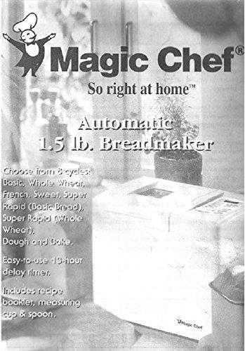 magic-chef-bread-machine-maker-instruction-manual-recipes-model-cbm1000-