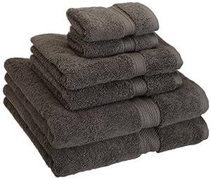 Superior 900 Gram Egyptian Cotton 6-Piece Towel Set, Charcoal