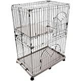 IRIS 2-Tier Wire Cat Cage