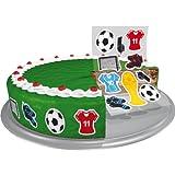 9 essbare Zucker-Sticker Fußball Dekoback
