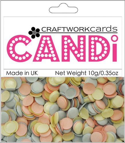 Craftwork Cards CW46 Candi Dot Embellishments .35oz-Cotton Candy