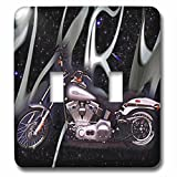3dRose lsp_145_2 Light Switch Cover Picturing Harley-Davidson174; Motorcycle
