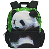 Kid's Animal Print Backpack School Bag Kid Dinosaur Owl Elephant (Panda)