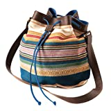 Stripe Drawstring Bag
