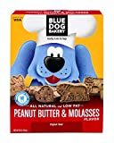 Blue Dog Bakery | Dog Treats | All-Natural | Low-Fat | Peanut Butter & Molasses | 20oz (Pack of 6)