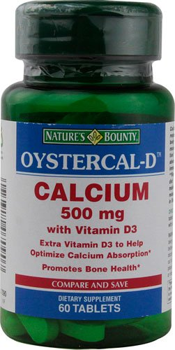 Natures Bounty Oystercal-D Calcium- 60 Tablets (Pack Of 2)