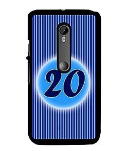 Fuson 2D Printed Numerology Designer back case cover for Motorola Moto G3 - D4240