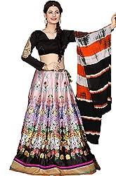 J B Fashion Women's Printed Lehenga