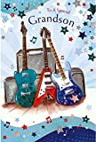 To A Special Grandson Happy Birthday Card Guitar Amp Design Quality Card With A Lovely Verse