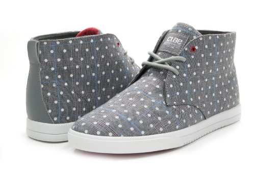 Clae Strayhorn Textile Concrete Plaid Polka Dot Canvas Shoes