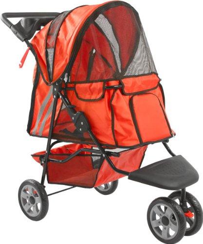 Orange Zephyr 3-Wheel Pet Jogging Stroller front-267393