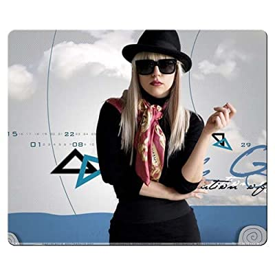 Cloth / Rubber Mouse Pad Smooth Lady Gaga Mouse Mat 26x21cm 10x8inch