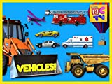 Learning Vehicles Names and Sounds for Kids   Cars, Trucks, and More!