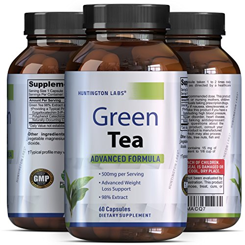 Green Tea Extract Capsules - Pure Extract - Weigh Loss Pills - Burn Belly Fat - Metabolism Booster - Lose Weight Fast - For Men & For Women - Safe & All Natural - Detox Cleanse (Green Tea Extract Capsules compare prices)