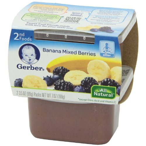 Gerber Nature Select 2Nd Foods Banana Mixed Berries - 2Ct