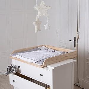 Table Langer En Bois Naturel Pour Commode Ikea Hemnes B B S Pu Riculture