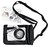 DURAGADGET Compact Camera Case in Black for Samsung DV150F, ST150F, WB200F, WB250F, WB800F, ST200, WB31F & Samsung ST72 - Premium Quality, Water-Resistant Pouch with Zoom Lens Compartment, Cross-Body Strap & Air-Locked Seals
