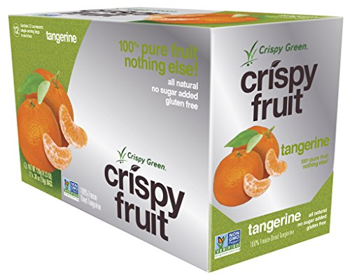 Crispy Green 100% All Natural Freeze-Dried Fruits, Tangerine, 0.36 Ounce (12 Count) (Green Fruit Snacks compare prices)