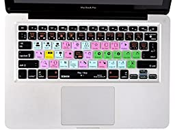 XSKN Macbook Shortcuts Design Series Adobe Hotkey Macbook Hot keys Silicone Laptop Keyboard Skin Cover for Macbook 13\