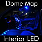 LED BLUE 2X DOME MAP INTERIOR LIGHT B...