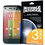 Rearth Invisible Defender Premium HD Clear Screen Protector for Motorola Moto G - Retail Packaging - Clear