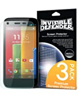[HD CLARITY] Invisible Defender - Moto G Screen Protector film de protection with [3 PACK/Lifetime Replacement Warranty] The World's Best Selling Premium EXTREME CLEAR Screen Protector Le protecteur d'écran Extreme prime for Google Motorola Moto G