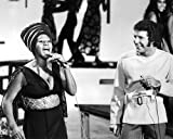 Aretha Franklin 1968 The Tom Jones Show 8x10 Promotional Photograph with Tom singing