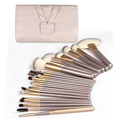 24PCS Makeup Brushes Kit, Cruelty Free Synthetic Fiber Bristles Professional Makeup Brushes with Travel bag