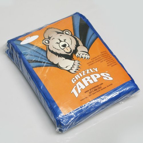 Grizzly Tarps GTRP68 6-Feet X 8-Feet Blue Multi-Purpose