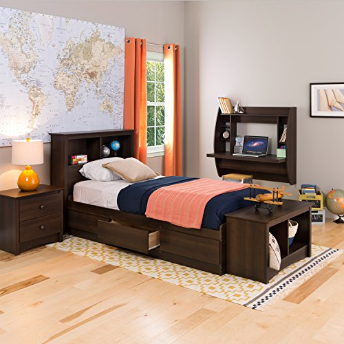Espresso Twin Mate's Platform Storage Bed with 3 Drawers (Espresso Bed Twin compare prices)