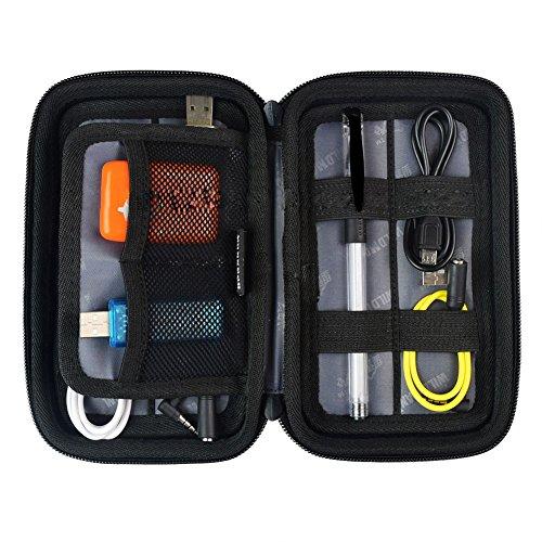 Extsud Custodia Rigida Impermeabile per Cavi Scheda di Memoria Chiavetta Hard Disk, Organizer Portatile da Viaggio Antiurto Antipolvere, Super Resistente Porta Accessori Elettronici Borsetta Nero (18*11*4cm)