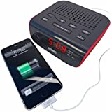#1 Rated Alarm Clock Fm Radio with Dual Alarm USB Charging Station for Any Cell Phone or Mobile Device. Lifetime Guarantee!