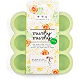 Baby Food Storage by Mushy Mushy, 9 Easy To Remove Pots, Lifetime Lasting Silicone Freezer Trays with Recipe eBook, Lifetime Guarantee