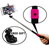 Remote Controller Selfie Extendable Stick Monopod Picture Taker for Travel Home Campaign Photo Camera Gopro Hero iPhone 4 4s 5 5s 6 6 Plus/ Samsung Galaxy S3 S4 S5/ Note II III/ HTC/ SONY/ LG (Black)