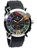 [サルバトーレマーラ] クロノグラフ 腕時計 ウォッチ メンズ 限定モデル イタリアブランド 立体インデックス ビジネス カジュアル 10気圧防水 【雑誌掲載モデル】
