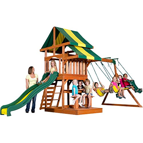 Backyard Discovery Independence All Cedar Wood Playset, Bronze front-175434