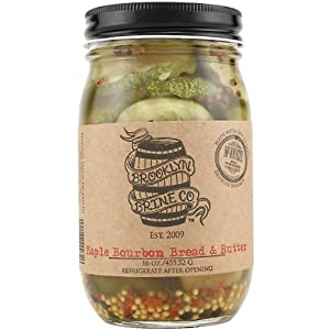 Brooklyn Brine Maple Bourbon Bread Butter Pickles - 16 Oz - Made With Bourbon Whiskey by Brooklyn Brine Co.