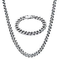 Men Necklaces, TOTU Curb Chain Neckla…