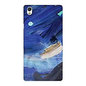 Gorgeous Blue Paint Work Print Back Case Cover for Sony Xperia T3