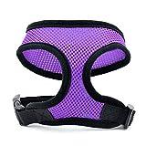 MuLuo Pet Dog Safety Harness Easy Control Mesh Vest Leash Chest Straps Belt M purple