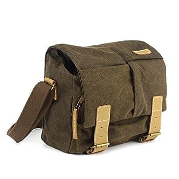 BESTEK CADEN Waterproof Canvas SLR DSLR Camera Shoulder Bag with Shockproof Insert