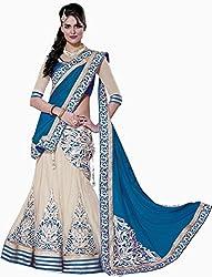 Apka Apna Fashion Women's Net Lehenga Choli (aaf6_Dark Blue_Free Size)