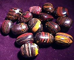 Tiger Iron Tumbled and Polished Specimens # 5