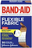 Band-Aid Brand Adhesive Bandages, Flexible Fabric, 30 Count (Pack of 2)
