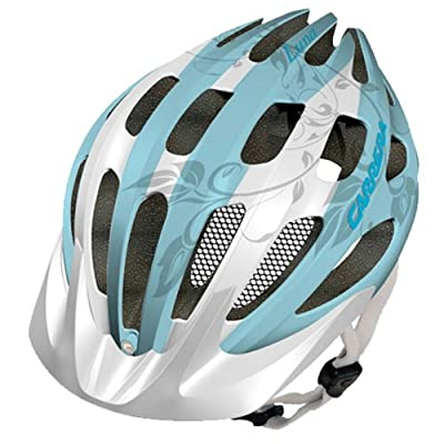 Carrera Luna Womens MTB Helmet - White/Turquoise by Carrera