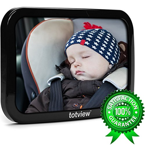 totview-Baby-Car-Mirror-BEST-Baby-Mirror-For-Rear-Facing-Car-Seats-Perfect-Back-Seat-View-of-Infant-Shatterproof-Ultra-Strong-Dual-Safety-Straps-Tested-by-Parents-Plus-LIFETIME-Guarantee