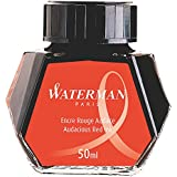 WATERMAN Fountain Pen Ink, 50 ml Bottle, Audacious Red (S0110730 )
