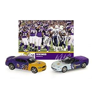 2008 NFL Dodge Charger & Chevrolet Corvette w  Team Card Minnesota Vikings by Upper Deck