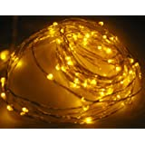 Buy light fixtures for Cheap light fixtures Yellow Decorative 100 LED Lights on 30 Ft Long Ultra Thin Silver String Wire light fixtures