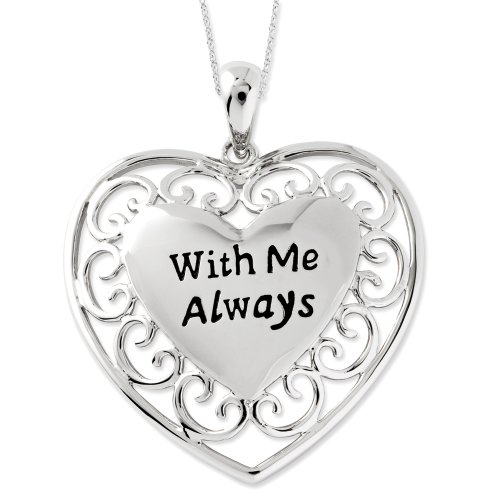 Sterling Silver With Me Always Sentimental Expressions Necklace